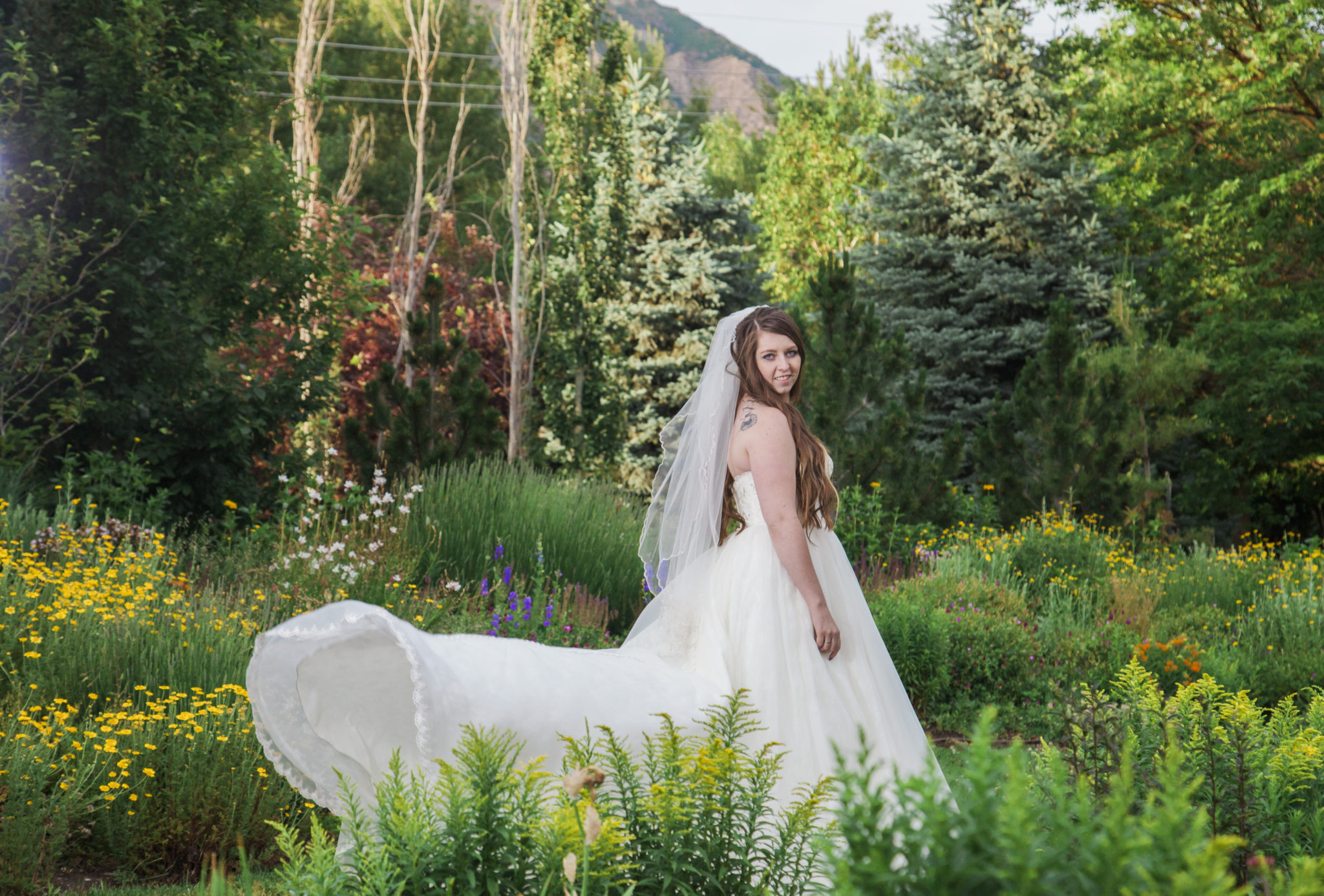 Bridal photo shoot with Abbie Ogden Botanical garden