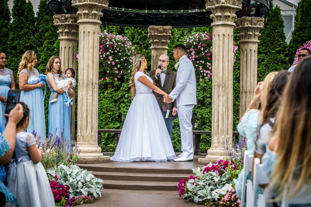 wedding ceremony Ryan hender photography le garden wedding venue sandy utah