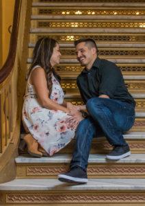wedding engagement photos utah state capitol