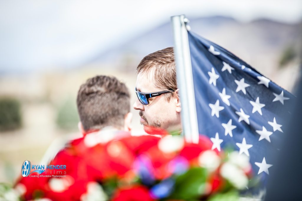 brother next to flag funeral photography utah Ryan hender films