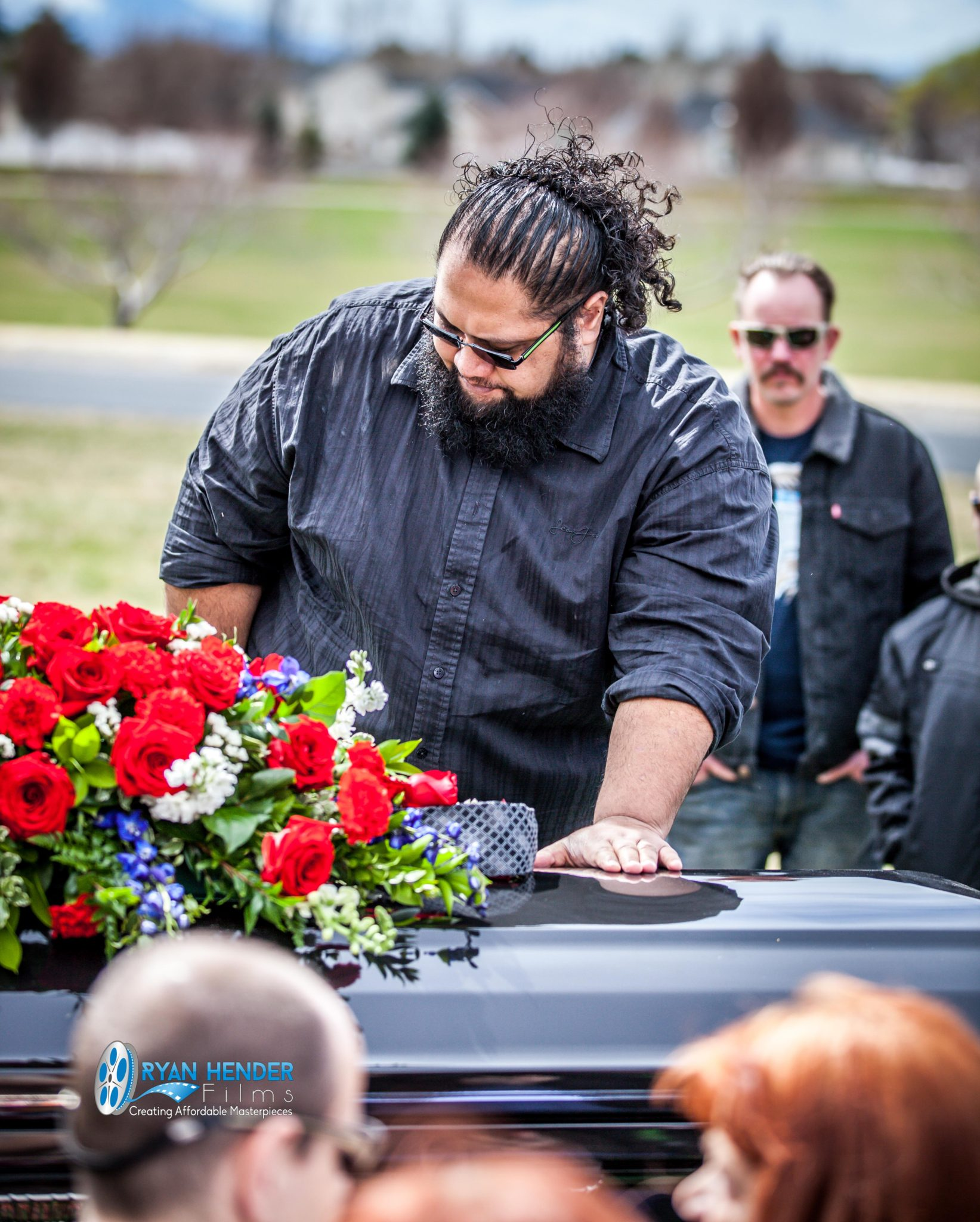 brother standing next to truck funeral photography salt lake city utah