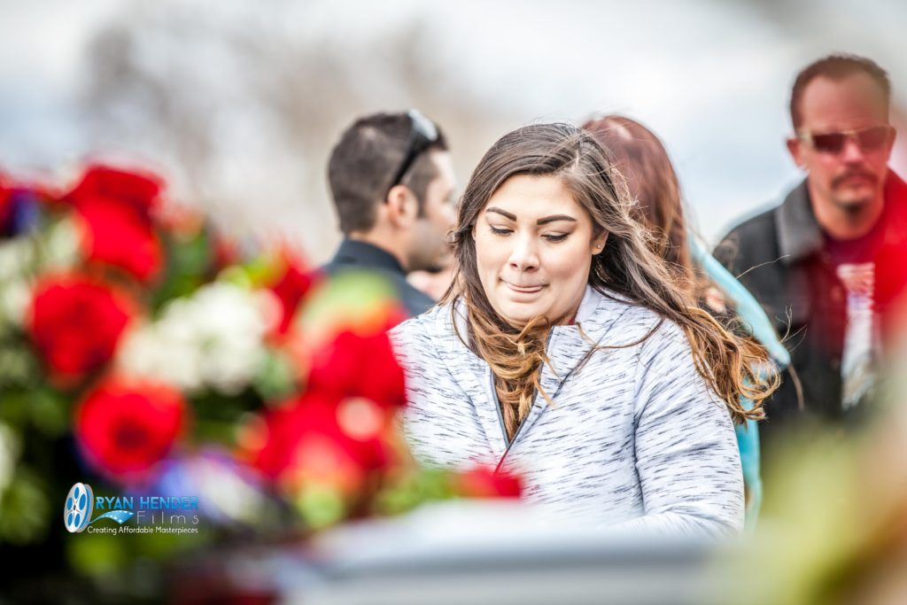 friend staring at casket funeral photography utah Ryan hender films