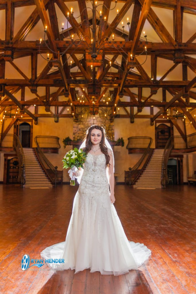 bridal photo shoot at castle utah