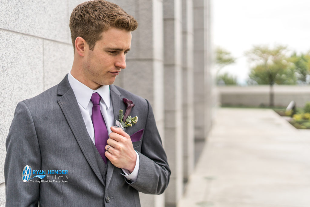 groom at utah draper temple wedding photography utah