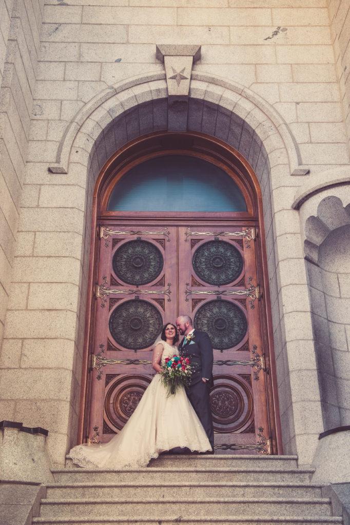 bride at salt lake city utah temple
