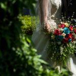 bridal bouquet with oranges