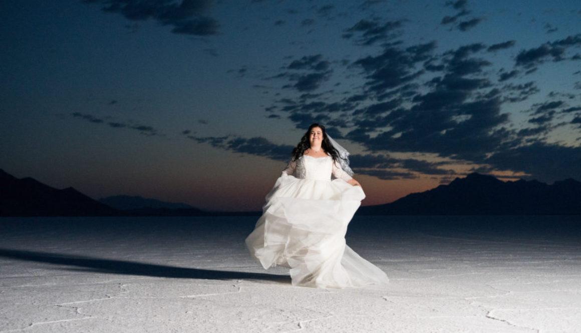 salt flats bridal photo shoot