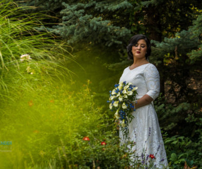 Memorial House at Memory Grove Park wedding photography bride in woods