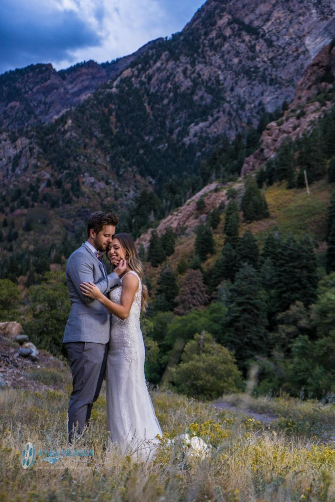 fall colors bridal photo shoot big cottonwood canyon