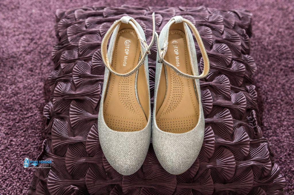 bride's shoes wedding photography utah Ryan hender films